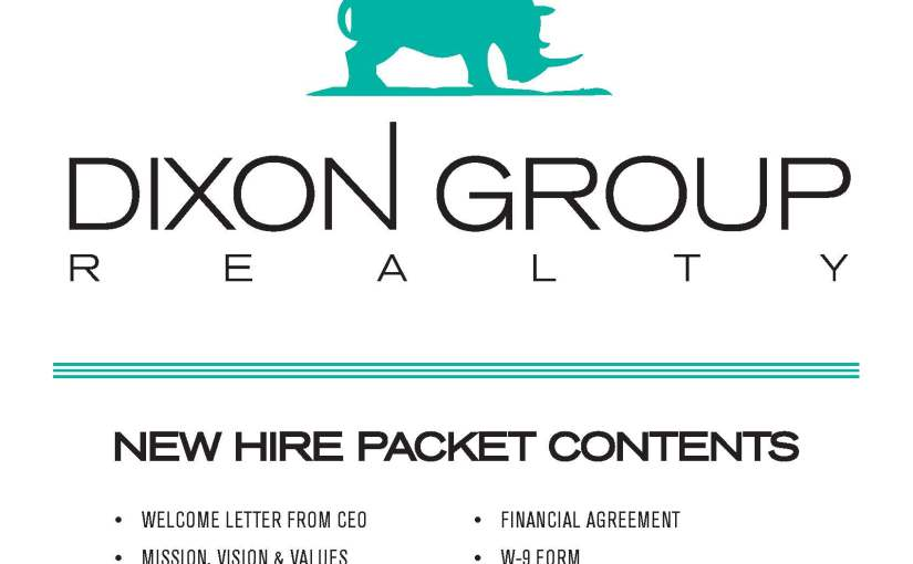 New Hire Packet, Dixon Group Realty